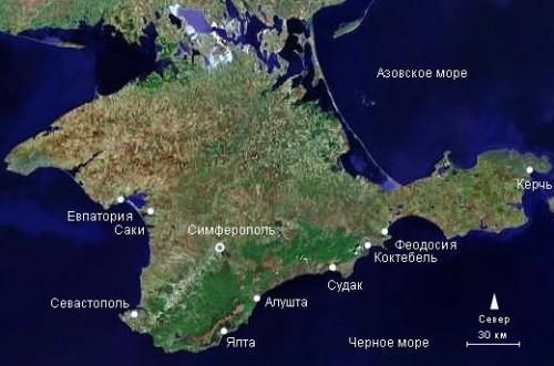 Вид на полуостров из космоса