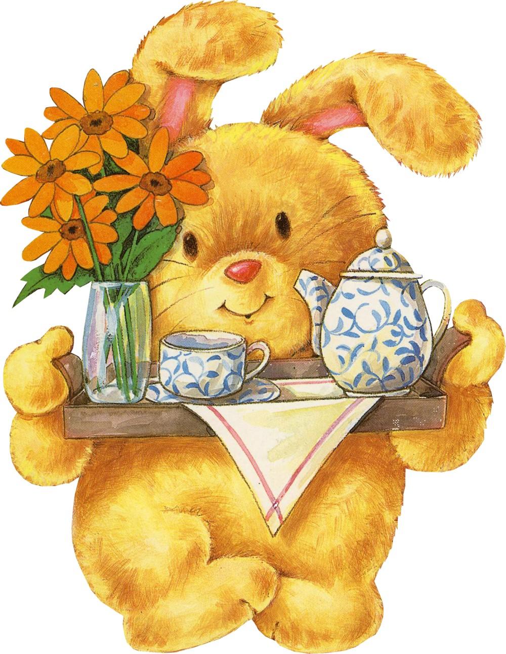 Доброго утра медвежонок - Доброе утро - Анимационные блестящие картинки GIF 3