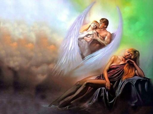Девушка мечтает о мужчине ангеле