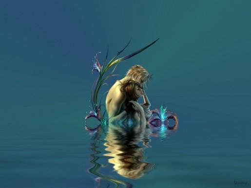 Парень не без; девушкой во воде