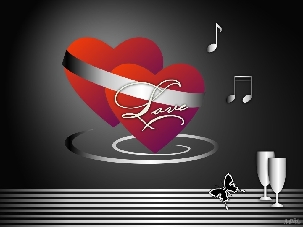 Два сердца соединенные ленточкой два