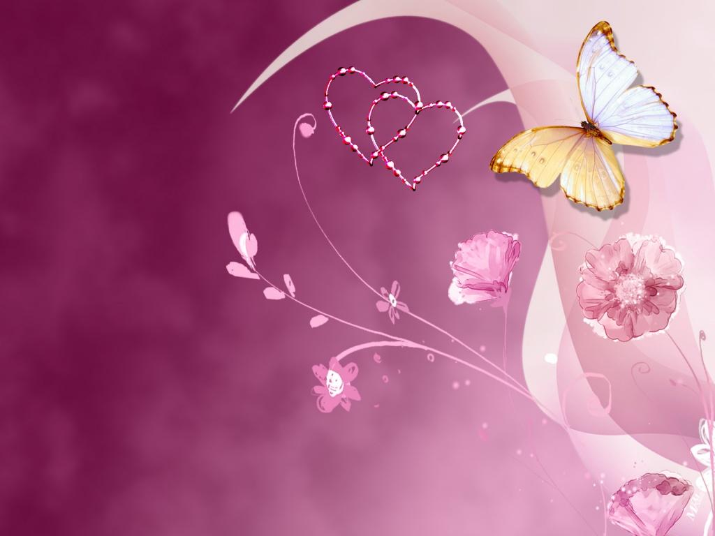 Розовые фантазии бабочка на тонком