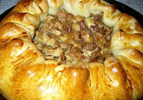Грибной пирог в духовке