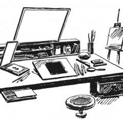 Рабочее место дизайнера-графика