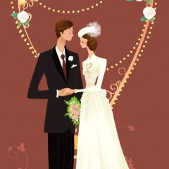 Жених и невеста собираются целоваться