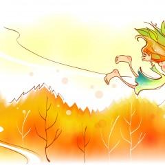 Осенний полёт девочки