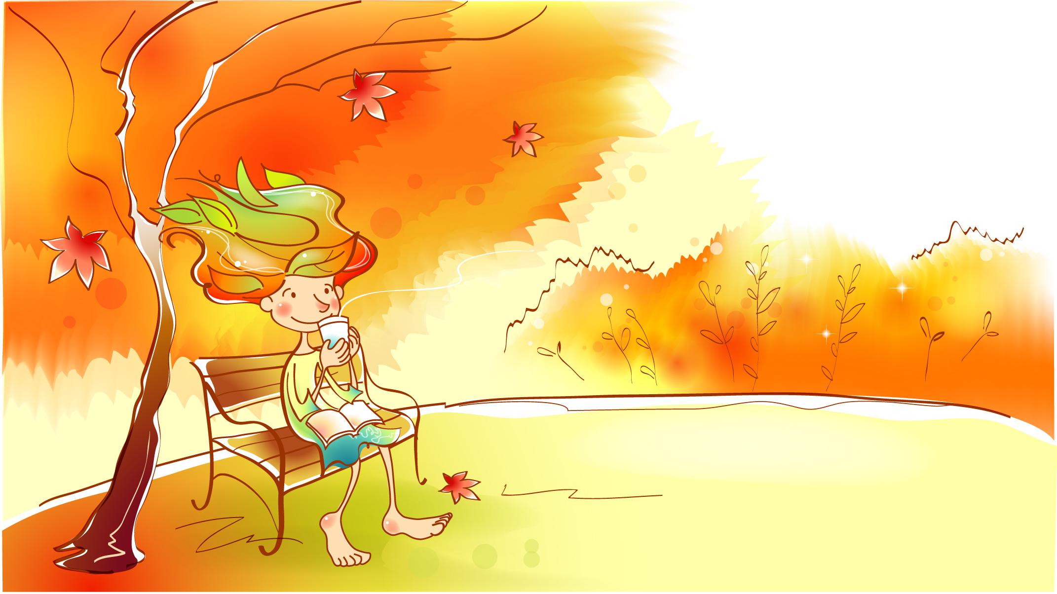 Веселые картинки на тему осень