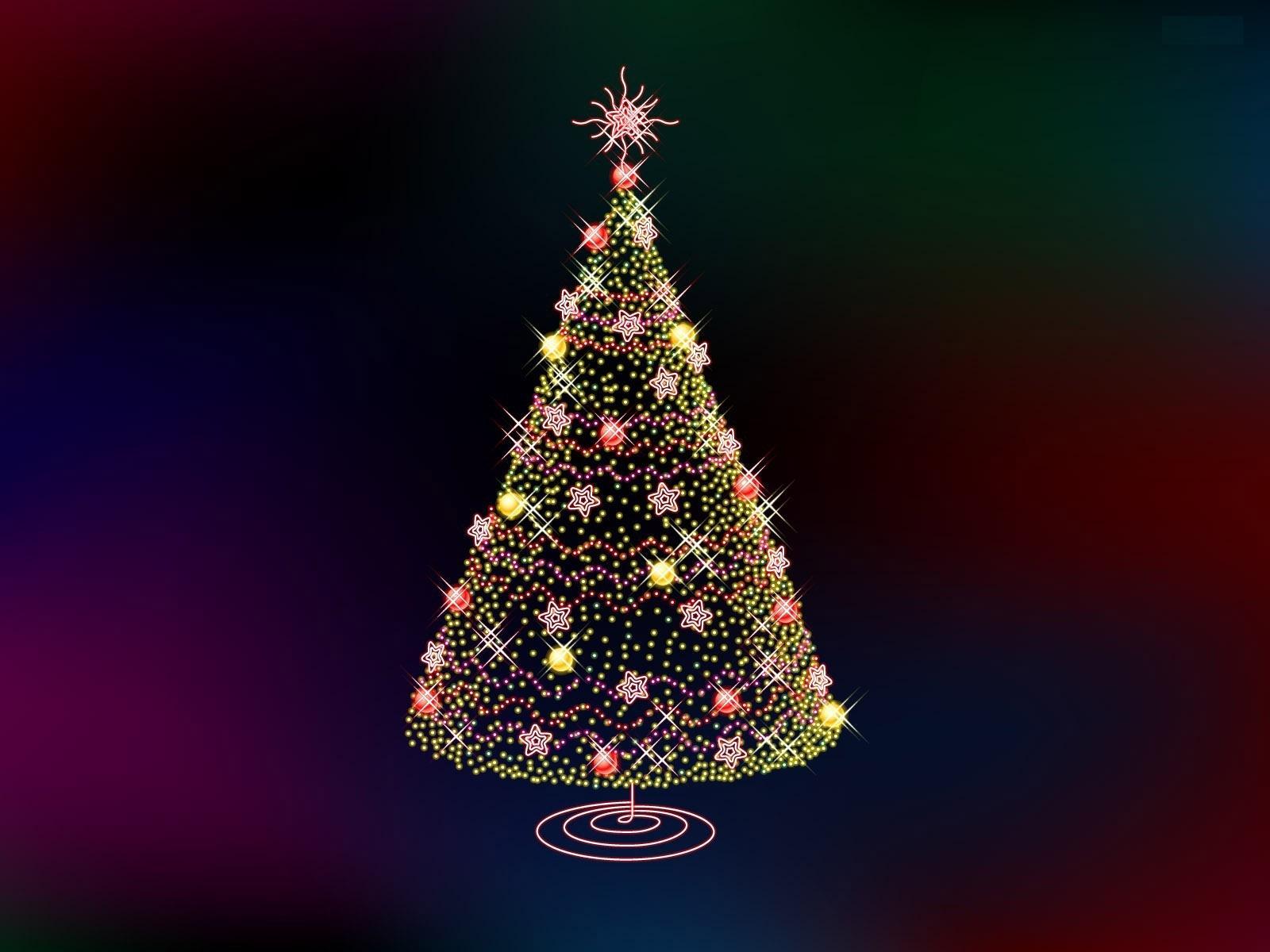 Рисунок новогодней ёлки