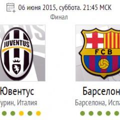Барселона — Ювентус. Лига чемпионов 2015. Финал. Онлайн трансляция 06.06.15 в 21:45