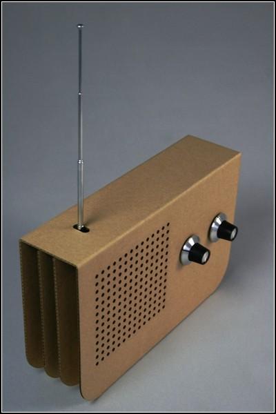Радиоприёмник из картона